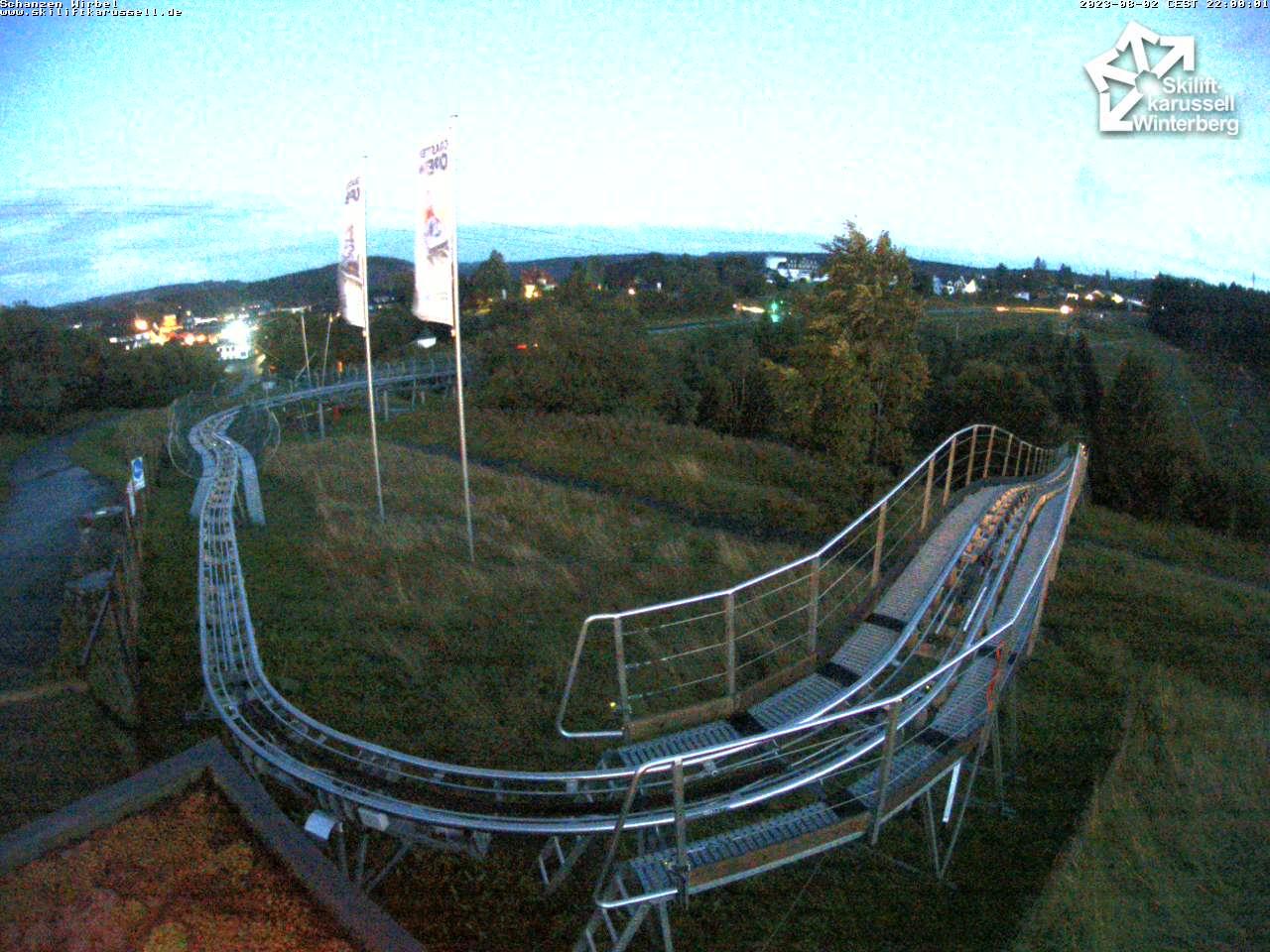 Webcam Schanzen Wirbel - Skiliftkarussell Winterberg